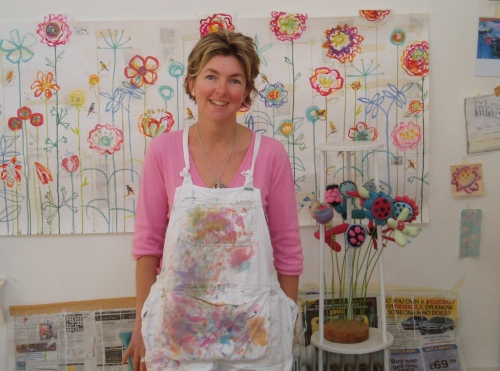Kirsten Jones in her studio