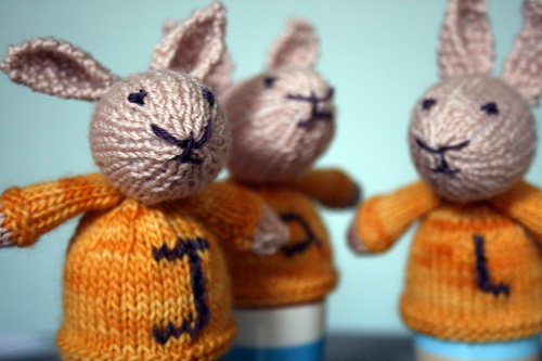 Easter Bunnies made by Alabama Whirly, designed by Little Cotton Rabbits