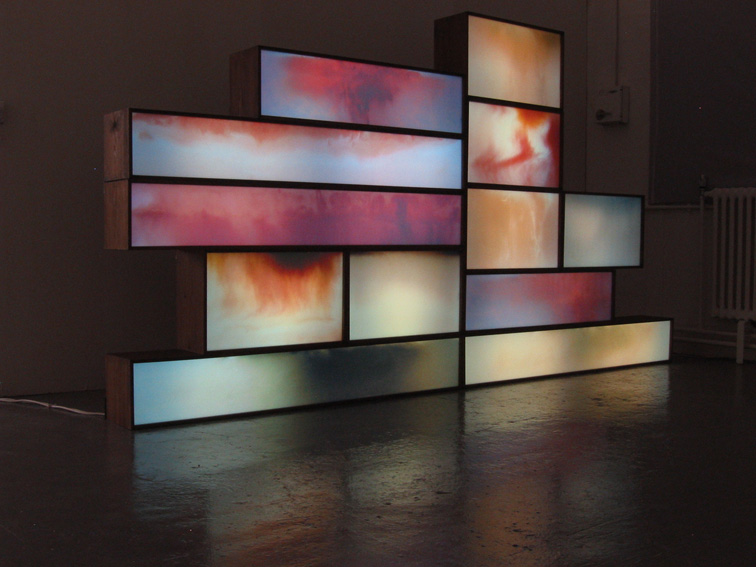 Postcards from Saturn, 2005 Lightbox installation, overall 150 x 300cm
